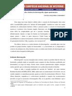 CORDEIRO, Cecília Siqueira. Historiografia e história da historiografia - alguns apontamentos..pdf