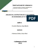 ensayo sobre la Estructura de la ley general de sociedades.docx