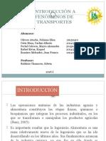 Introducción a Fenómenos de Transportes