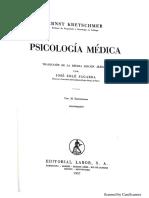 Kretschmer - Psicología Médica