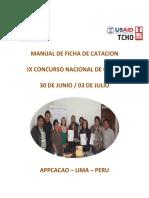 Agenda_manual Ficha de Cacao 2015_ix Concurso Nacional