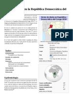 Brote de Ébola en La República Democrática Del Congo de 2018