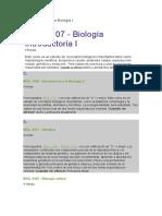 Ntroducción a La Biología I