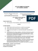 Agenda Special Meeting 07-02-18
