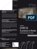 Coloquio Olmecas. Programa (Frente)