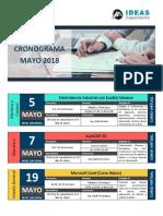Cronograma de Cursos Mayo 2018