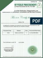 Bpp Contractor Certificate