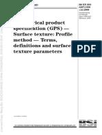 BS EN ISO 4287-98 A1-09