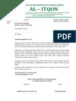 Surat Permohonan Menjadi Khotib
