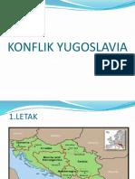 2.Konflik Yugoslavia