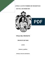 Protocolo de Proyecto 2018