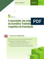 A Enunciação - Das Origens Da Gramática Tradicional à Linguística Da Enunciação