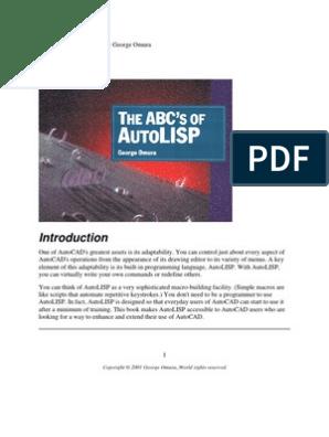 ABC's of Autolisp | Data Type | Parameter (Computer Programming)