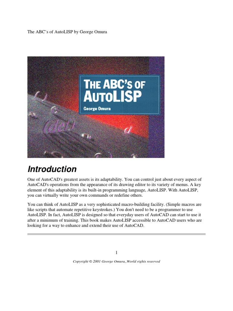 ABC's of Autolisp   Data Type   Parameter (Computer Programming)