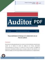 Responsabilidades de Liderazgo en La Calidad Dentro de Una Firma de Auditoría