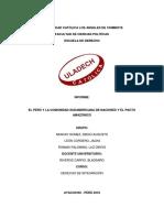 Informe Monografico de Derecho de Integración- Ciclo Vii , Grupo El Pacto Amazónico y Unasur