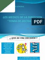 CAPITULO III Los Medios de La Direccion - Toma de Decisiones