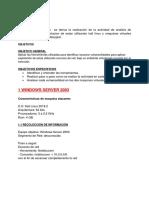 Informe Análisis de Maquinas
