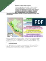 PROduccion de Cultivos Andinos en El Peru