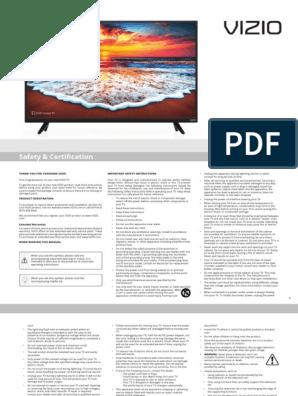 Visio D32h-F1 User Manual | Menu (Computing) | Hdmi