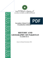Hist Geography of Pakistan