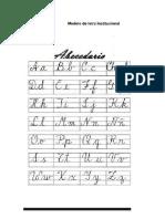 caligrafía institucional