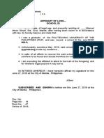 006 Affidavit of Loss SCHOOL ID PUP - Copy