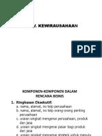 Komponen-komponen Rencana Bisnis