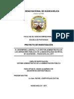 Incidencia Del Desempeño Del Personal Administrativo en La Gestión de La Municipalidad Distrital de Ascensión Al Año 2017