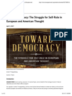 Toward Democracy