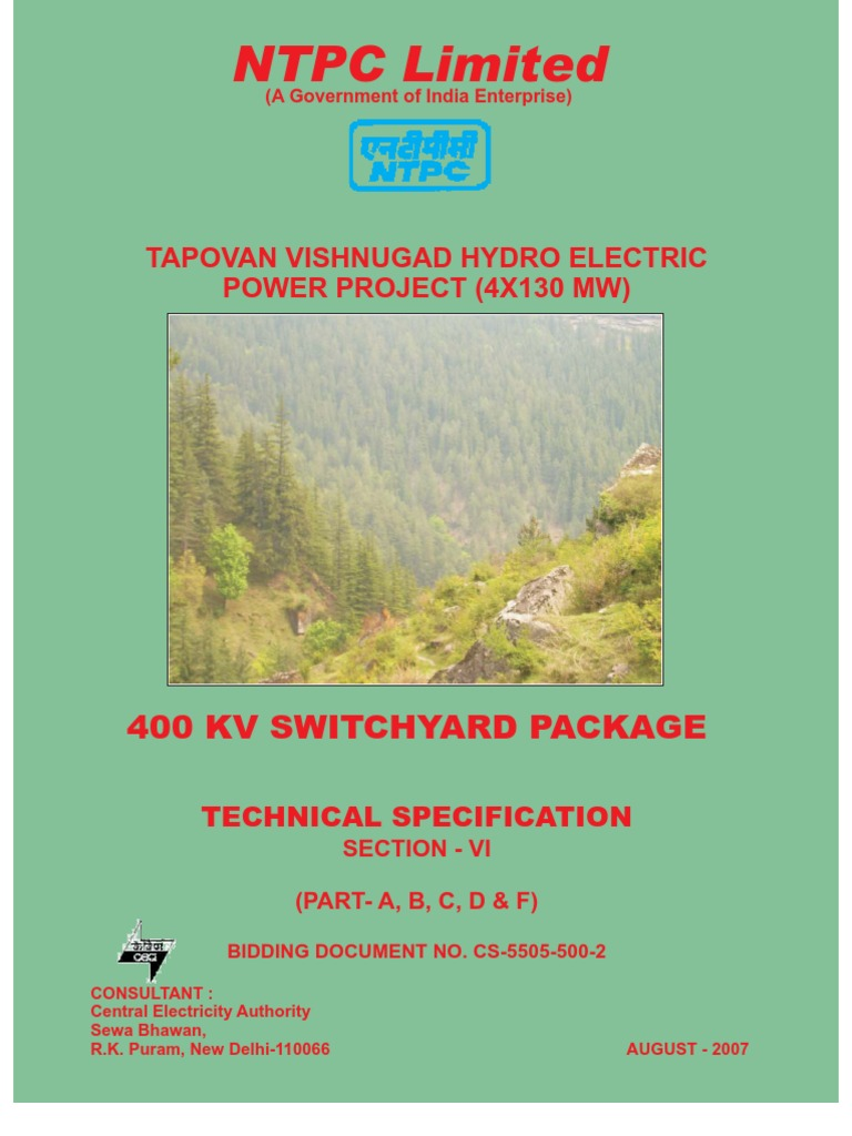Tech Spec (Switchyard-ntpc)PDF | Electrical Substation | Specification (Technical Standard)  sc 1 st  Scribd : sectional clearance in switchyard - Sectionals, Sofas & Couches
