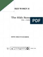 The Sikh Sansar USA-Canada Vol. 5 No. 1 March 1976 (Sikh Women II)