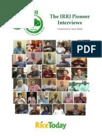 The IRRI Pioneer Interviews