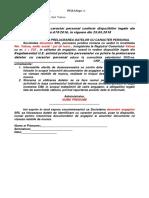 Acord Prelucrare Date ( Pentru Angajati )