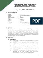 Silabo Idioma Extranjero IV Ing Software
