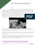 Bukti Terbaru Neil Armstrong Mendarat Di Bulan