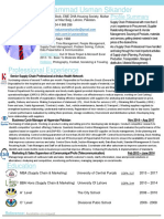Muhammad Usman Sikander - Supply Chain CV