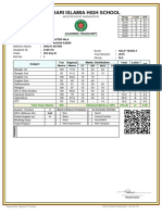 SIX  B Mark Sheet