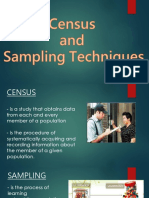 Census & Sampling Techniques