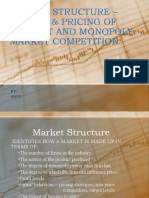 Market Structure & Pricing