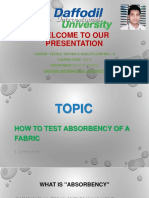 Absorbency Test
