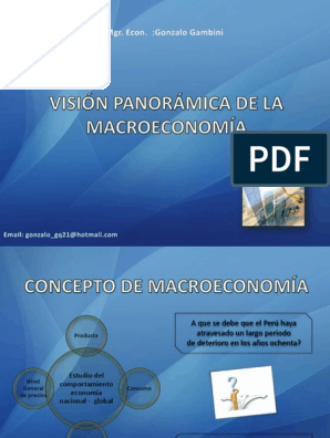 Capítulo 01  Visión Panorámica de La Macroeconomía - 2013