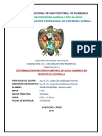Determinacion Espectrofotometrica de Acido Carminico en Cochinilla