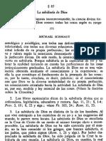 MICHAEL SCHMAUS TEOLOGÍA DOGMÁTICA 1 85