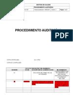 PR GDC 007 Procedimiento Auditorías
