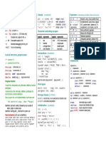 c Reference Card