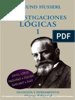 Investigaciones Lógicas, Tomo I - Edmund Husserl