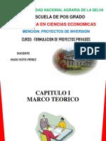 Sesion  Marco Teorico de los Proyectos de Inversion