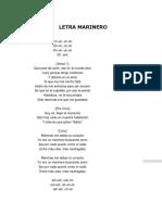 Letra Marinero
