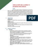Determinacion de Acidez y Solidos Solubles